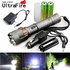 Hot Sales 4000LM LED Zoomable Ultrafire Flashlight+18650 Battery+Charger