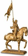 SAINT JOAN OF ARC STATUE SCULPTURE FIGURINE HORSE RIDING RELIGIOUS CATHOLIC AA