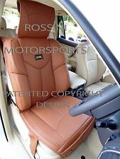 i - TO FIT A FIAT 500C CAR, SEAT COVERS, YMDX TAN, RECARO BUCKET SEATS