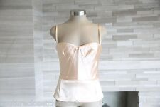 Auth DOLCE & GABBANA Blush Nude Corset Dress Bustier 44 Fits 6/8