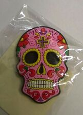 Candy Skull Day of the Dead Mexican Fridge Magnet Pink