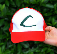 Pokemon Go Satoshi Ash Ketchum Embroidery Costume Cosplay Party Cap Hat