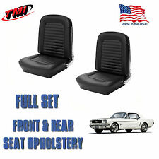 1964 &1965 Mustang Convertible Seat Upholstery Black Front & Rear IN STOCK!!