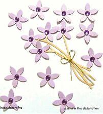 EK SUCCESS JOLEE'S BOUTIQUE 3-D GEMSTONE STICKERS FLORAL PURPLE JEWELED FLOWERS