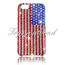 American Flag Crystal BLING BACK CASE FOR IPHONE 7 4.7 Made w/ SWAROVSKI ELEMENT
