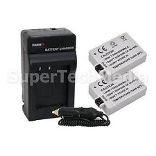 2 x Battery + Charger Combo Kit for Canon EOS 500D Kiss F/X2/X3 XSi XS LP-E5