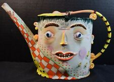 Porcelain Whimsical Face Figure Pitcher Tea Pot by Irina Zaytceva (signed)