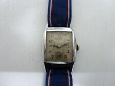 VINTAGE MILITARE? WATCH C. 1930's SWISS MADE hand winding watch working