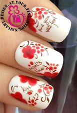 NAIL ART WATER TRANSFER/STICKERS/DECALS KISS & YOU WILL FEEL ANGELS LOVE #202