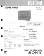 Sony Original Service Manual für HST-D 40