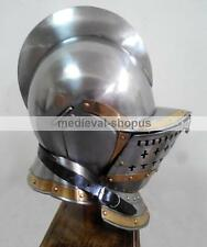 medieval knight burgonet helmet re-enactment larp role-play armour helmets