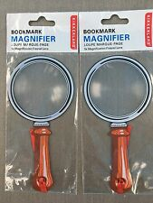 2 Kikkerland 3X Magnifier Fresnel Lens Bookmarks Magnifing Book Mark MG03 Loupe