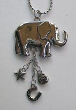 g Good Luck ELEPHANT trunk up CAR CHARM rear view mirror ORNAMENT ganz ladybug