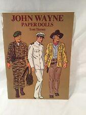 Vintage John Wayne Paper Dolls UNCUT By Tom Tierney