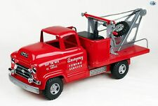 Awesome 1950s Restored GMC Buddy L 'Emergency Towing Service' Tow Truck Toy