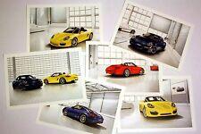 Porsche postcard set collector's items – 911 Boxster, Cayman