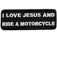 I LOVE JESUS MOTORCYCLE EMBROIDERED BIKER PATCH