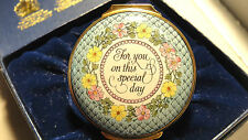 1988 MOTHER'S DAY HALCYON DAYS BILSTON & BATTERSEA ENAMELED HINGED BOX