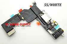 USB Charging Port Flex Cable Headphone Audio Dock For iPhone 5S White