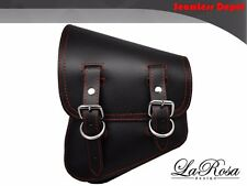 New La Rosa Black Leather Red Stitch Harley V Rod VRSCAW VRSCDX Left Saddle Bag
