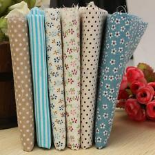 6PCS Coton Tissu Carreaux Patchwork Pois Coupons Joli Assorti DIY 50x50cm