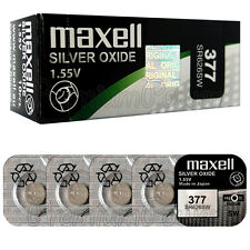 5 x Maxell 377 Silver Oxide batteries 1.55V SR66 SR626SW 376 Watches 0% Mercury
