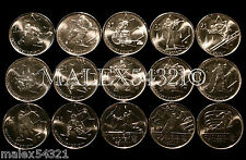 SET OF (15) 2010 VANCOUVER OLYMPIC 25 CENTS UNCIRCULATED