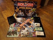PARKER BROTHERS--MONOPOLY STAR WARS SAGA EDITION BOARD GAME (LOOK)