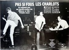 LES CHARLOTS =  Coupure de presse 4  pages 1983 !!!