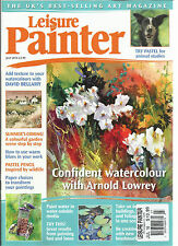 LEISURE PAINTER MAGAZINE, JULY, 2016   CONFIDENT WATERCOLOUR WITH ARNOLD LOWREY