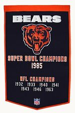 "Chicago Bears Embroidered Wool Dynasty 24"" x 36"" Banner Pennant"