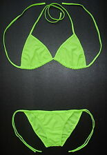 Sexy LIGHT BRIGHT GREEN BIKINI Swimsuit Nice 2 Piece Swimming Costume Swimwear