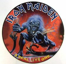 IRON MAIDEN VINYL LP A REAL LIVE ONE - PICTURE DISC