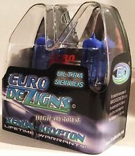 EURODEZIGNS ULTRA Cool Blue REPLACES SYLVANIA SILVERSTAR HEADLIGHTS 9004