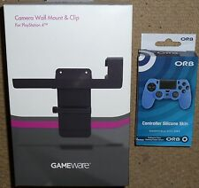 SONY PLAYSTATION 4 PS4 CAMERA CAM TV CLIP WALL MOUNT + CONTROLLER SKIN BRAND NEW