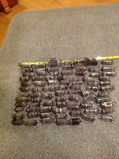 Vintage Glass Vacuum Tubes TV Radio Steampunk Lot 75+ Arts Crafts Various Size