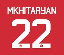 Mkhitaryan Manchester United 2016-17 Europa Home Football Nameset for shirt