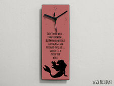 Ariel Mermaid - I don't know when... I don't know how...- Wall Clock