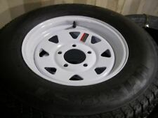 "14"" Tire and Rim  205/75D14 Load Range C White Spoke 5.45 14 X 6 5-4.5 3.19 CB"