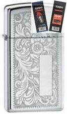 Zippo 1652 venetian chrome Lighter with *FLINT & WICK GIFT SET*