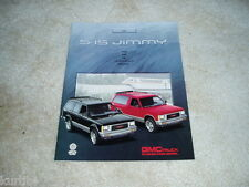 1991 GMC S-15 Jimmy SLS SLE sales brochure dealer literature