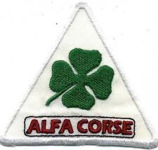 Toppa ricamata patch termoadesiva ALFA CORSE triangolare lato cm. 8