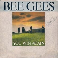 """45 TOURS / 7"""" SINGLE--BEE GEES--YOU WIN AGAIN / BACKTAFUNK--1987"""