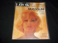 1965 MAY 18 LOOK MAGAZINE - VIRNA LISI - BEAUTIFUL FRONT COVER - F 1514