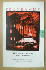 The Opera House Manchester 1952 Programme- THE GAY DOG by Joseph Colton