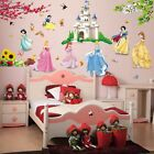 Princess Castle Girls Wall Stickers Wall Decal Removable Kids Art Decor Mural
