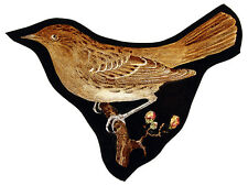 Thrush stained glass fragment, kilnfired, thrush suncatcher, bird stained glass