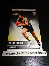 2012 SELECT AFL CHAMPIONS BASE CARD NO.166 TRENT COTCHIN RICHMOND