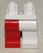 LEGO NEW JESTER MINIFIGURE PANTS WHITE AND RED LEGS