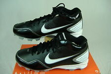 "New Mens 7.5 NIKE ""Keystone 3/4"" Black Baseball Cleats Shoes $48"